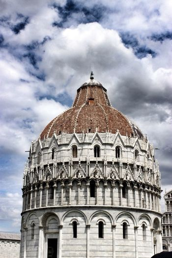 Low angle view of a pisa baptistery