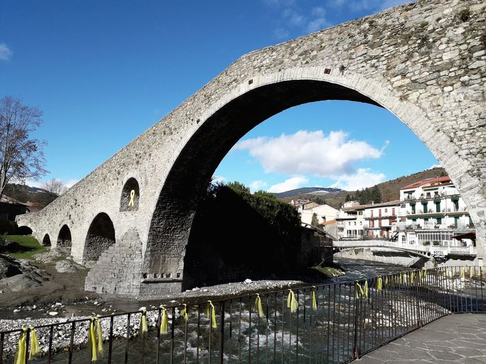 Camprodon Ripolles Girona Catalunya Catalonia Water Bridge - Man Made Structure City Arch Sky Architecture Built Structure Cloud - Sky Historic Monument History