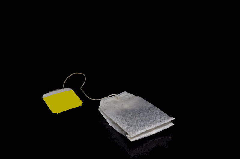 Black Background Close Up Light Box Light Tent Low Key Tea Tea Bag