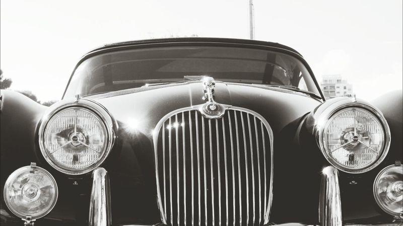 At a classic car show... Jaguar XK 150 Classic Car Classic Car Show Eyeem Monochrome Eyeem Black+white