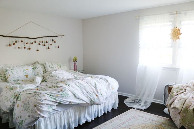 Panoramic view of bed in bedroom