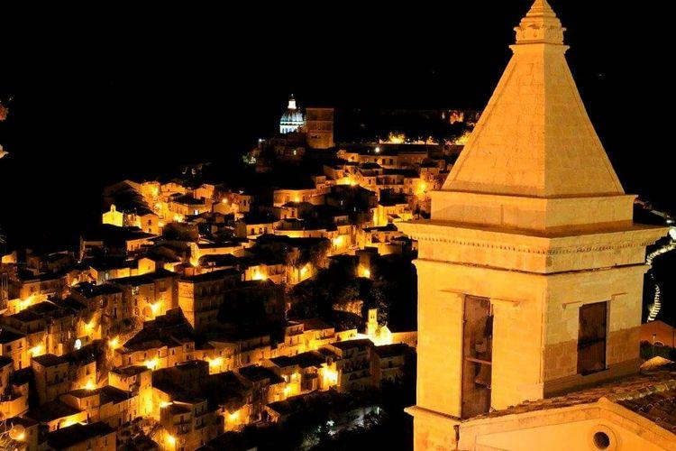 Italy Sicily Ibla Night City Travel Destinations Architecture Building Exterior
