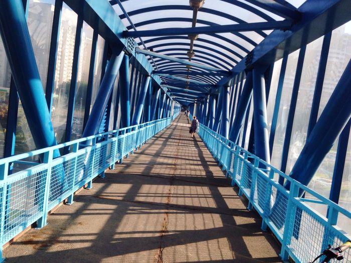 Bridge Tunnel Blue Moscow Kirillgay Kvadrat Stark EyeEm Iphonephotography