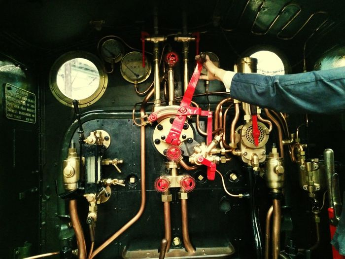 Adult Steam Engine Train Engine Machine Railway Engine Steam Railway Factory England, UK Adult Only Men Indoors  One Person People Young Adult Day GWR Great Western Railway Indoors  Machinery Close-up Technology Gauge No People