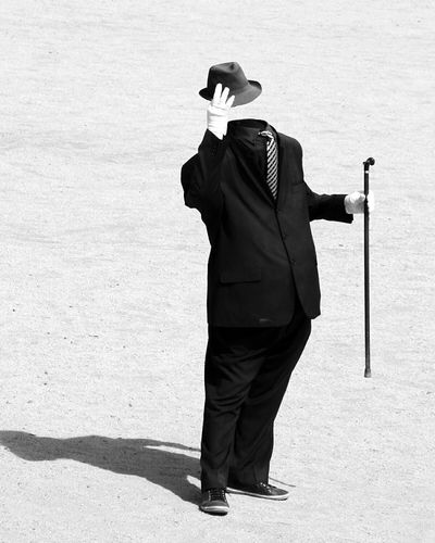 Invisible Man Lifting Hat