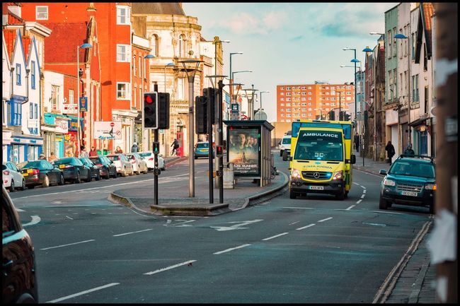 Bristol Rescue Team City Life Ambulance Service Ambulance Architecture City Building Exterior Street Built Structure Transportation Road Land Vehicle No People Day Outdoors Sky