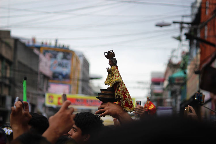 Sto. Niño rising above the flocks of devotees The Week on EyeEm The Week Of Eyeem The Week Of Eyeem Sinulog Sinulog Festival Traditional Culture Traditional Festival Philippines Crowd Arts Culture And Entertainment Celebration City Large Group Of People People Outdoors Day Adult Sky Adults Only The Street Photographer - 2018 EyeEm Awards