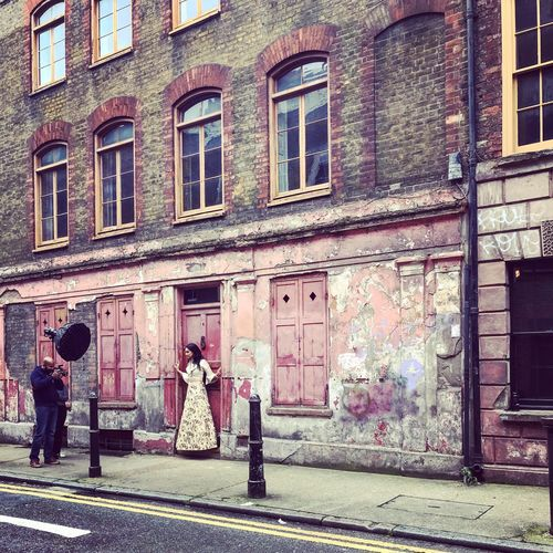 She is in fashion London lifestyle Princelet Street Streetphotography Fashionshooting  Fashionphotography Architecture Building Exterior Built Structure City Street Building Window Sidewalk Lifestyles