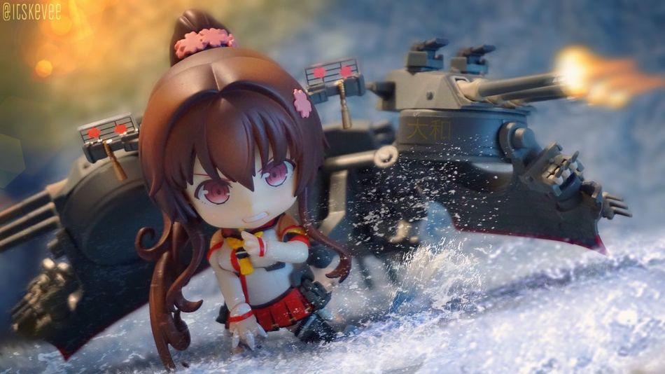Battleship Yamato Yamato Kancolle Kantaicollection Sea Water Close-up Nendoroid ねんどろいど Toyphotography 艦隊これくしょん Colorful Outdoor Photography Anime Focus On Foreground Creativity 艦コレ Art Cute Battleship
