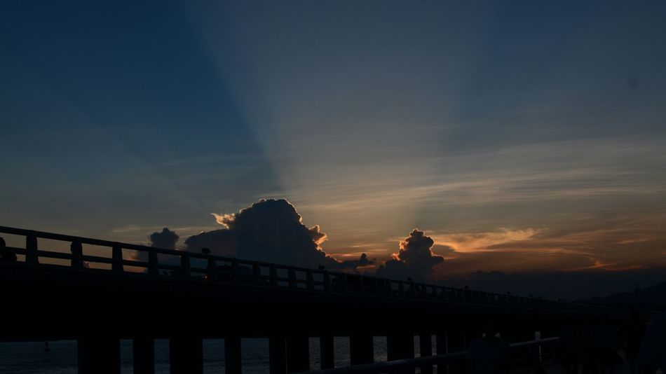 Bridge - Man Made Structure Sunset Travel Destinations Silhouette Night Outdoors Architecture Arts Culture And Entertainment Sky Landscape No People Water City The Street Photographer - 2017 EyeEm Awards
