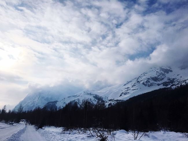 Val Ferret Mont Blanc Snow Cold Temperature Winter Weather Nature Beauty In Nature Mountain Tranquility Scenics Sky Snowcapped Mountain Mountain Range Outdoors Frozen Landscape White Color Tranquil Scene Cloud - Sky Day No People First Eyeem Photo