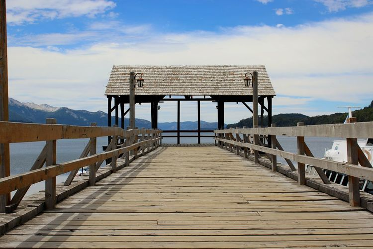 Lake Nature Bridge - Man Made Structure Wood - Material Outdoors Water Landscape Villa La Angostura Patagonia Seven Lakes