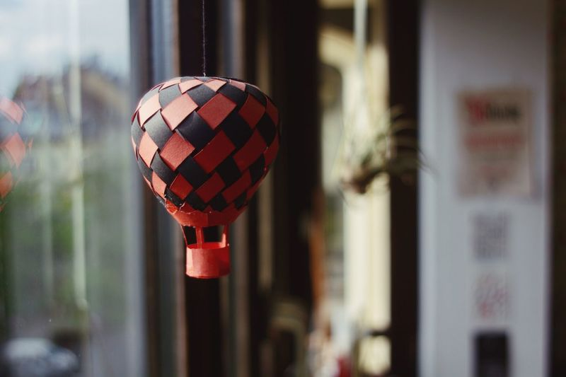 EyeEm Selects Focus On Foreground Tradition Close-up Hanging Red Celebration Day No People Indoors  Lantern Architecture