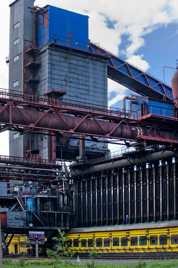 Low angle view of metallurgical industry