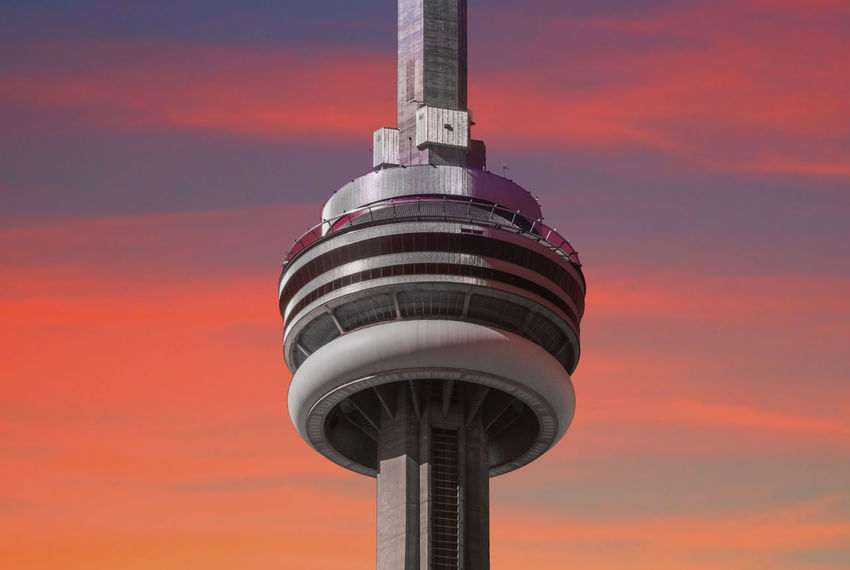 Hue Architecture Building Exterior Built Structure Canon Canonphotography Close-up Cntower Day Dusk EyeEm Best Shots First Eyeem Photo FirstEyeEmPic Golden Hour Low Angle View Modern No People Orange Color Outdoors Sky Sunset Technology Toronto Torontophotographer Tower Towers