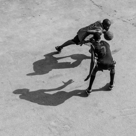 Basquetball People Shadow Sport Street Streetbasketball