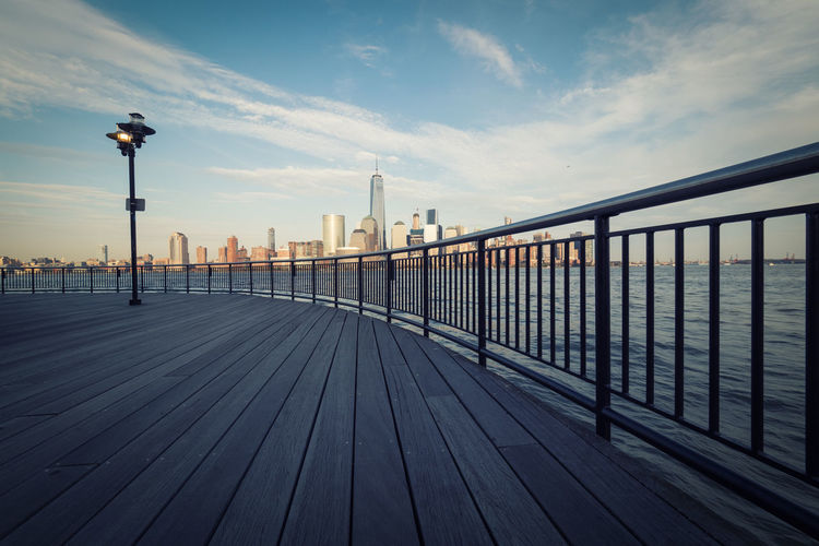 Bridge - Man Made Structure Chill City Clouds Day Fence Manhattan New Jersey New York New York City No People Outdoors Sea Sky Travel Travel Destinations Travelling USA Water