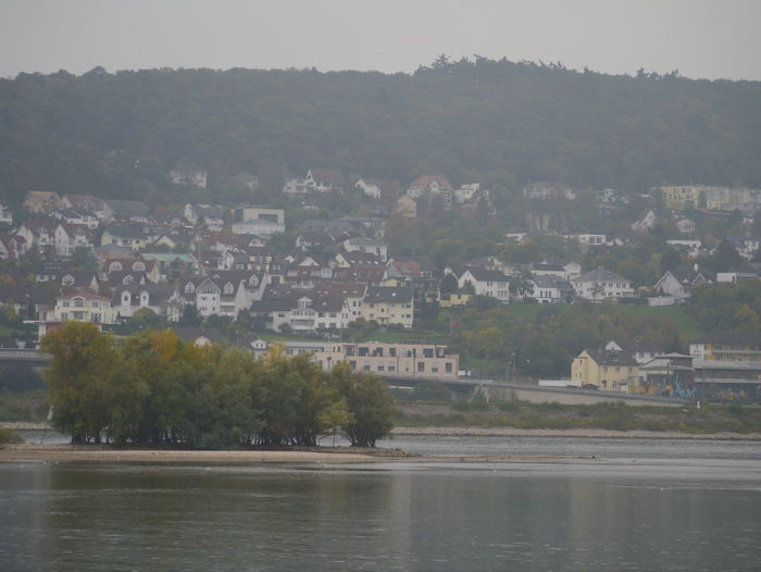 View of townscape by river