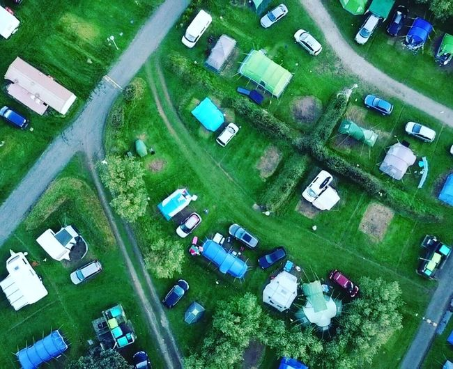 High Angle View Green Color Aerial View Agriculture No People Day Outdoors Full Frame Building Exterior Architecture Camping Aerial View