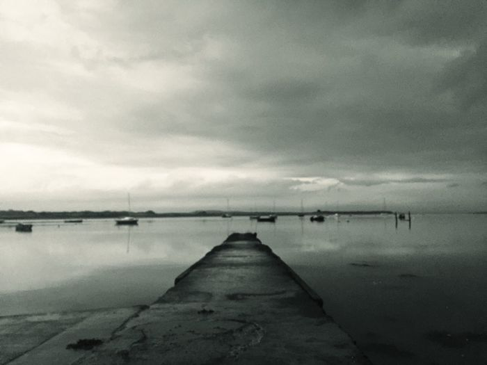 Heartbreak : after a break up many years ago I took this photograph. When I look at this I always feel the emptiness of how I felt Life Heartbreak Malahide  Sky Cloud - Sky Pier Lake Tranquility Tranquil Scene Outdoors Beauty In Nature No People Jetty Scenics
