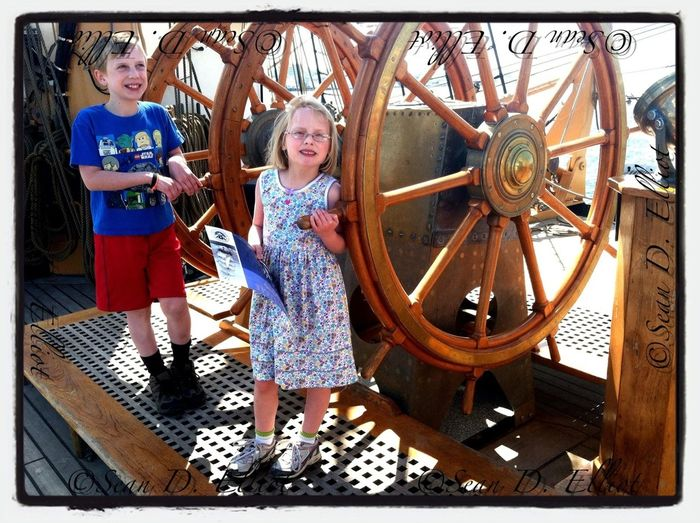 Touring Coast Guard Barque Eagle.