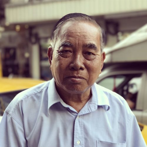 Taxi Driver in Bangkok Close-up Day Front View Headshot Looking At Camera One Person People Portrait Real People Senior Adult Taxi Driver Thai Thai People
