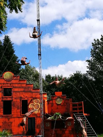 Count the jumping men, there are many Day Tree Outdoors Sky No People Swimming Jumping Height Jump Circus Acrobat Highjumps