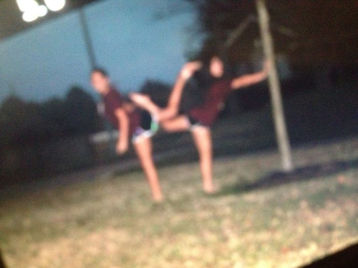 ME & ISABELLE'S failed infinity sign.