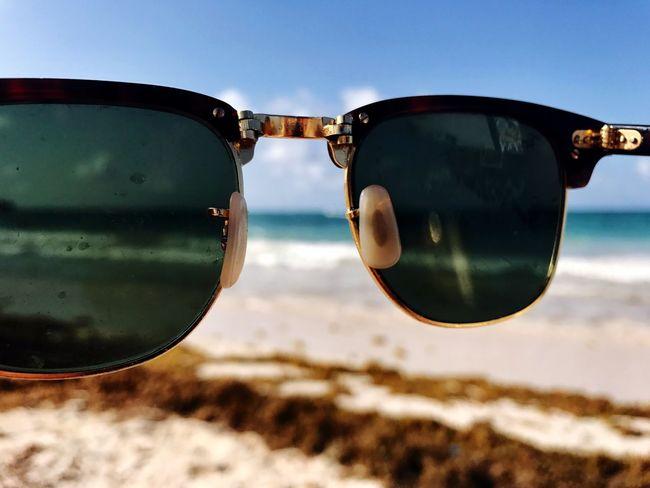 Sunglasses Eyewear Reflection Vision Eyesight Focus On Foreground Sky No People Close-up Eyeglasses  Outdoors Day Nature