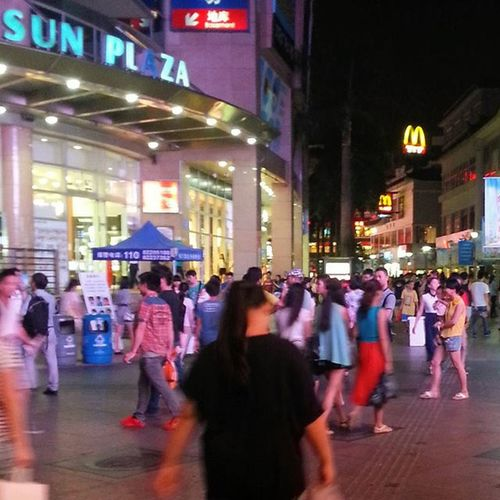 Shenzhenlaojie Laojie Chinabusypedestrian Latenightshopping Postings from my previous samsung note 2. This street, Lao Jie never sleeps. 10 pm and pedestrian is still increasing.