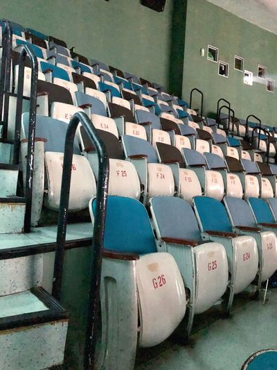 In A Row No People Seat Chair Indoors  Repetition Arrangement Empty Order Side By Side
