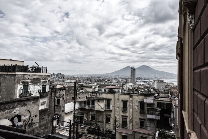 Vesuvio Naples Neapolis Napoli Napoliphotoproject Sky Skyline Sea Clouds Urban City Italy Italia Architecture Building Exterior Built Structure Cloud - Sky Sky Outdoors Day