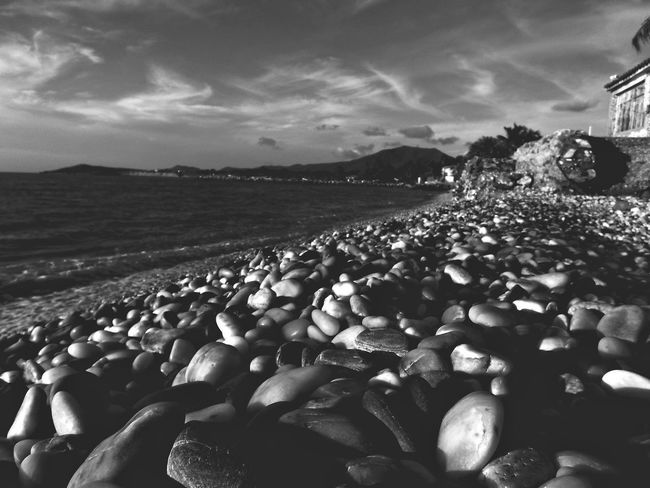 Thousand Stones Black & White Beach Blackandwhite Island Landscape Outside Rocks Shore Sky Stones Thousand