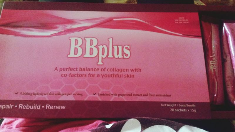Everyone...try dis...BB PLUS collagen...ive try and really satisfied wif d result..skin look glowing n moisture..come in 20 sachets in a box..each day 1 sachet..enuff to get pinkish skin...it help to repair..rebuild n renew d skin..5000mg fishh collagen wif marvelous blackcurrant tastes...hmmmm...yummy..watsapp me fast for the product...Bieha (013 7341237)