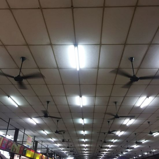 Illuminated Ceiling Lighting Equipment Indoors  Low Angle View No People Electricity  Built Structure Architecture