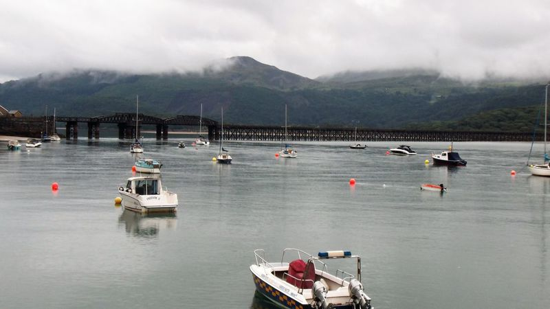 Barmouth Wales UK Bridge Cloud - Sky Mode Of Transport Mountain Mountain Range Nature Nautical Vessel No People Outdoors Scenics Tranquility Transportation Water