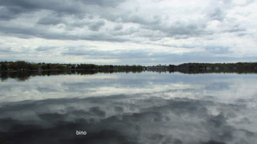 From The Archives Morning Walk Grey Day No People Around The Lake Cool Cloud Formations Reflection_collection Lake Cadillac Pure Michigan