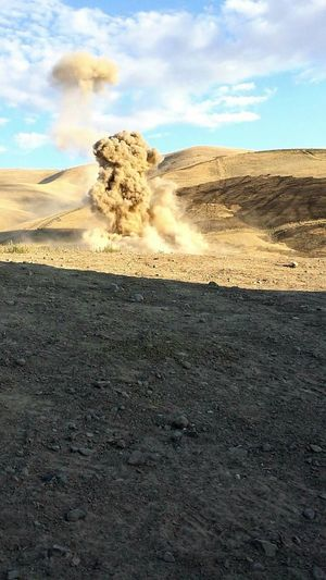Detonation 3.. 2.. 1 BOOM! Shrapnel Burst Dirt Explode Mission Tactical 12B Combat Engineer Service To Our Country