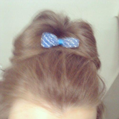 Hair Bow Brunete Brown hair