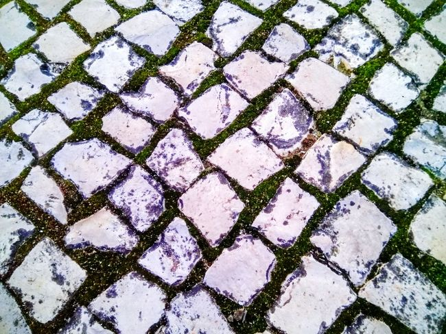 High Angle View Street Pattern Full Frame Road Outdoors No People Textured  Cobblestone Backgrounds Day Close-up Nature Maximum Closeness