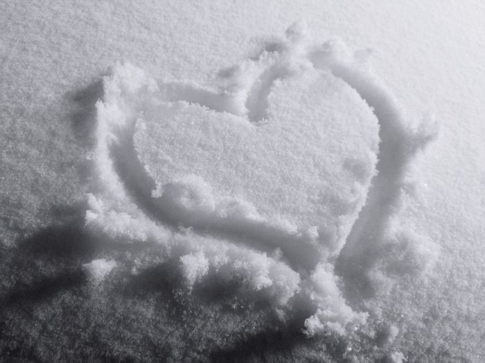 Snow Heart Winter Snow Love Heart Shape Shape Close-up Love Is Love #NotYourCliche Love Letter