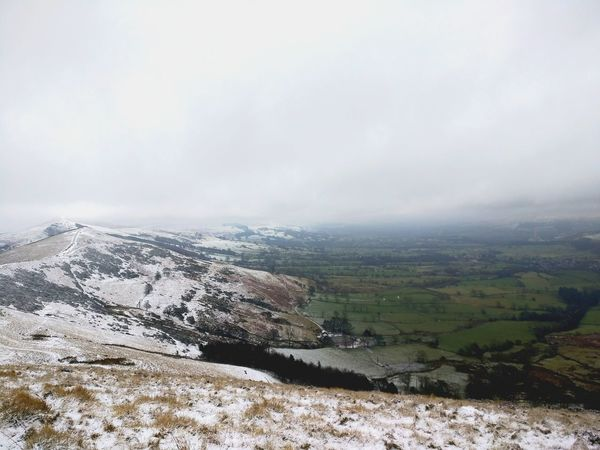 Peak District Views. Aerial View Fog Social Issues Landscape Nature Cloud - Sky Outdoors No People Storm Cloud Beauty In Nature Tree Day Sky Travel Eyeemphotography AndroidPhotography From My Point Of View EyeEm Snowing Cold Temperature Snow Warm Clothing High Angle View Photography Travelgram The Great Outdoors - 2017 EyeEm Awards