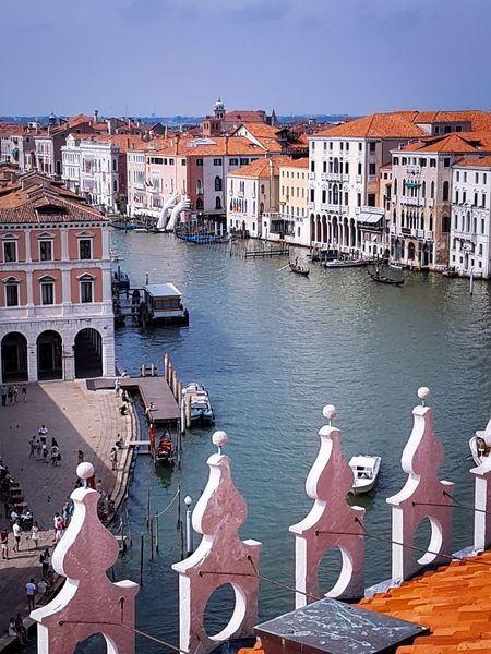 Outdoors No People Building Exterior Day Sky Historical Buildings Venezia Italy Travel Vacations Urban Skyline City Architecture Water Canal Grande Rialto Market