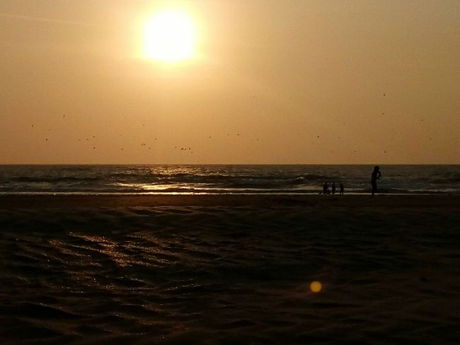 Sunset Beach Sea Sunset Beach Sun Horizon Over Water Travel Destinations Tourism Scenics Tranquility Silhouette Water Beauty In Nature Nature Vacations Tranquil Scene Outdoors Sky Sunlight Travel Sand