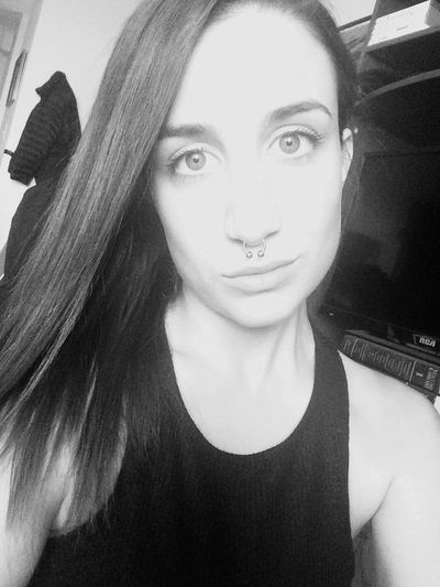 Monochrome Selfie Septum Pretty Saturdaynight Faces Of EyeEm Blackandwhite