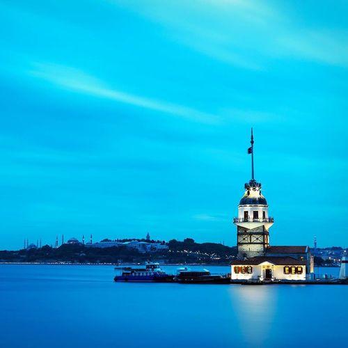 Kiz Kulesi - Maiden's Tower @2015 by www.murattellioglu.com Maidenstower Amazing View Long Exposure Sea Blue Blue Sky Clouds And Sky Nature Istanbul Turkey