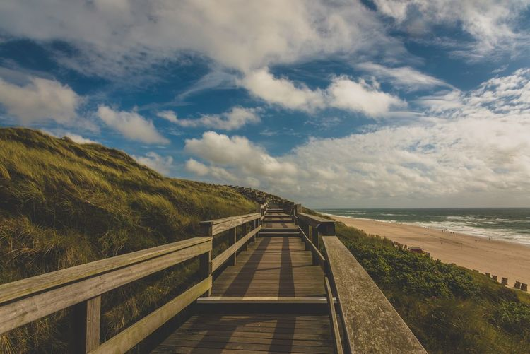 Beauty In Nature Cloud - Sky EyeEm Landscape EyeEm Nature Lover Germany Horizon Over Water Island Landscape Landscape_Collection Nature Outdoors Railing Scenics Sea Sky Sylt The Way Forward Tranquil Scene Tranquility Water
