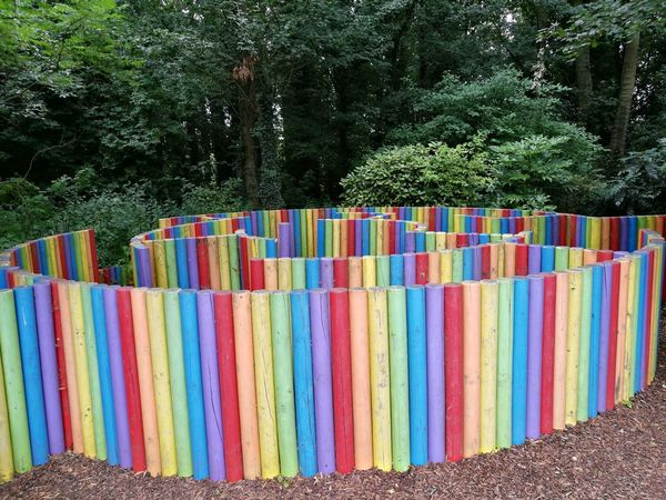 Maze Colorful For Kids And For Adults Hidden Multi Colored No People Outdoors Play Area