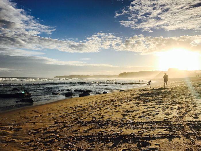 Sand Australia Newcastle Beach Night
