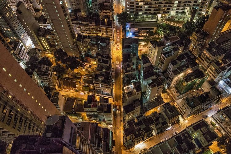 Sleepless City. HongKong Rooftop Architecture Cityscape Skyscrapers Night Illuminated Residential Building Highrise City Lights Nightphotography Nightlife Sheungwan First Eyeem Photo